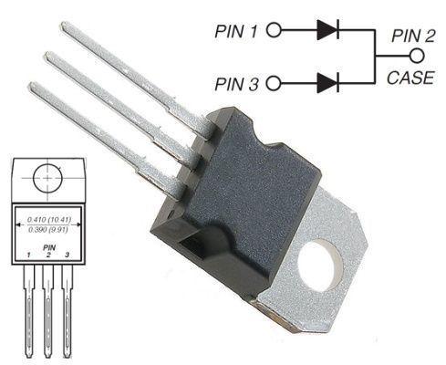 MBR20100 dioda schottky dvojitá 100V/2x10A/ TO220AB