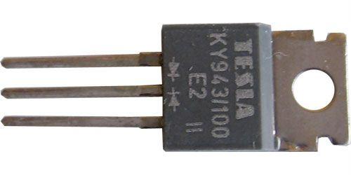 KY943/100 2x dioda uni 100V/3A TO220AB
