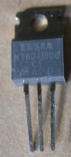 Triak KT804/800 800V/10A           TO220AB