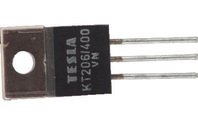Tyristor KT206/400 400V/3A 10mA     TO220AB