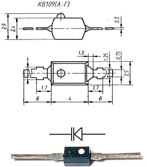 KV109B, varikap 2-25pF, SOD23 /BSW409V/