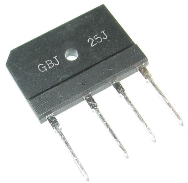 B250C25000DR diodový můstek 250V~/25A