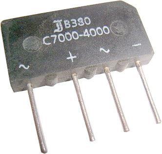 B380C7000 diodový můstek 380V~/7A