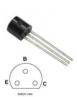 BC557B P UNI 45V/0,1A 0,5W (ß=180-460) TO92