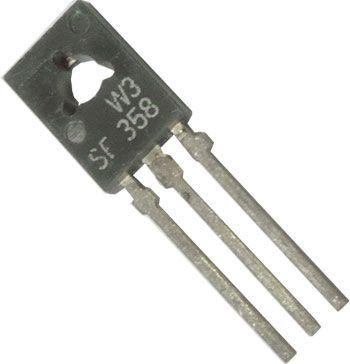 SF358 tranzistor vf NPN 250V/0,1A 1,2(6)W 60MHz TO126