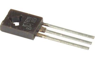 KT611BM N vf 200V/0,1A 3W 60MHz (ß=min 30) ruský, TO-126