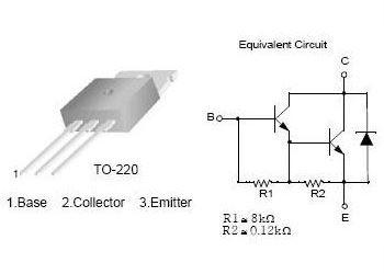 TIP121 N darl. 80V/5A 65W TO220