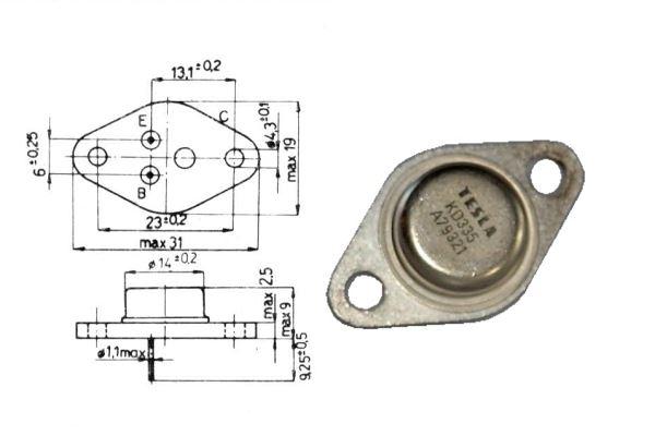 KD335 N 60V/2A 20W TO66