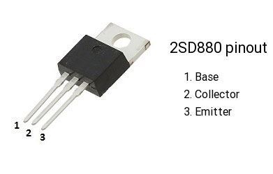 2SD880 N 60V/3A 30W, TO220