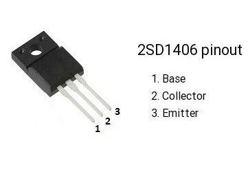 2SD1406 N 60V/3A 25W
