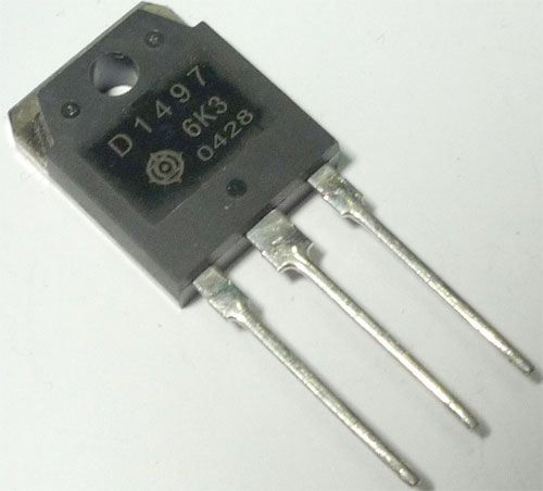 2SD1497 N 1500V/6A 50W TO247