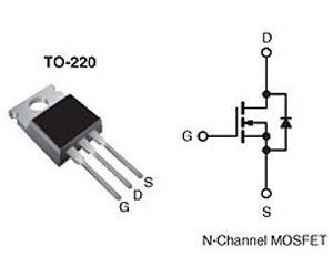 IRF830 N MOSFET 500V/4,5A 100W 1,35Ohm TO220