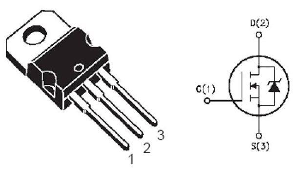 IRF640 N MOSFET 200V/18A 125W, Rds 0,15ohm