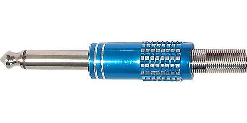 Konektor JACK 6,3mm mono kovový s vývodkou