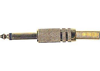 Konektor JACK 6,3 mono kov zlacený