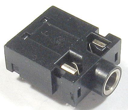 JACK zdířka 3,5 stereo do plošného spoje, přepínací kontakt