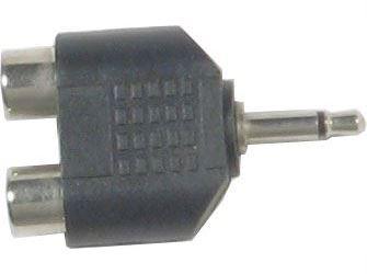Redukce JACK 3,5 mono konektor/ 2x CINCH zdířka