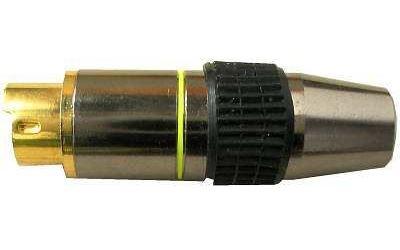 MINIDIN konektor 4 pin kovový, zlacený