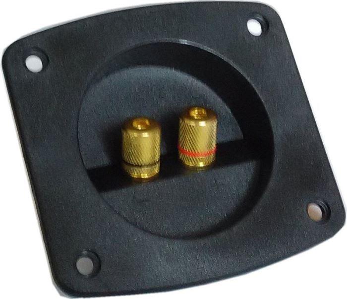 Reproterminál 85x95mm zaoblený se 2 svorkami-GOLD