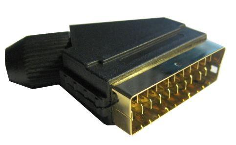 SCART konektor 21pin na kabel,zlacené kontakty
