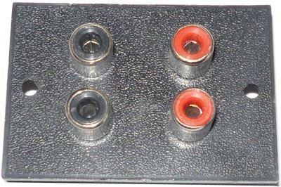 CINCH zdířka panelová 4x (35x52mm)