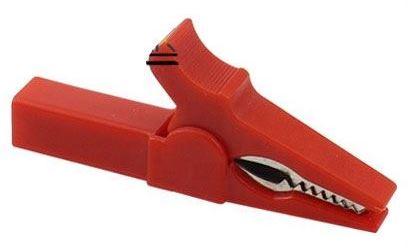 Krokosvorka pro banánek izolovaná, červená, l=55mm