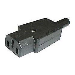 Síťová zdířka 230V k počítači kabelová 10A IEC60320