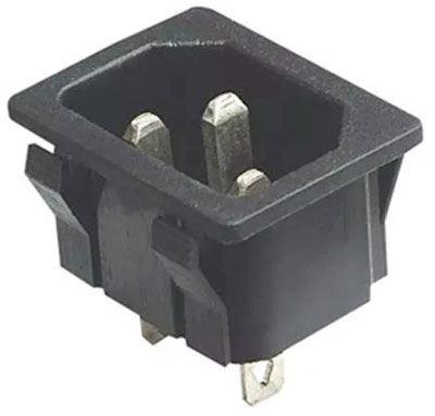 Síťová vidlice  IEC60320 230V na panel /AS04/