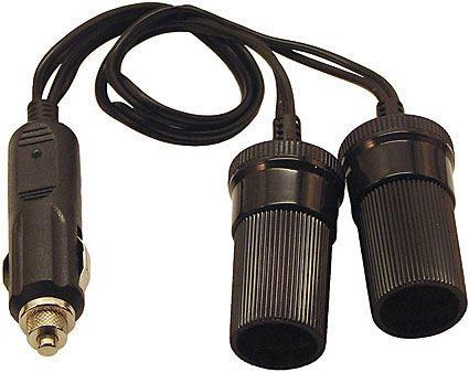 Rozdvojka autokonektor/2x zdířka s kabelem a pojistkou