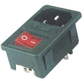 Síťový konektor IEC60320 230V na panel, pojist.pouzdro, vypínač /AS10/