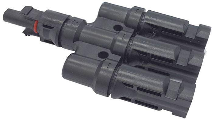 Rozbočení MC4, 1x zdířka, 3x konektor