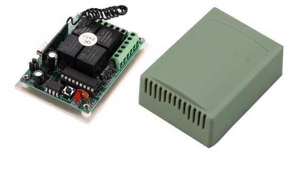 Dálkové ovládání-přijímač YET404 433MHz 4 kanálový, napájení 12V