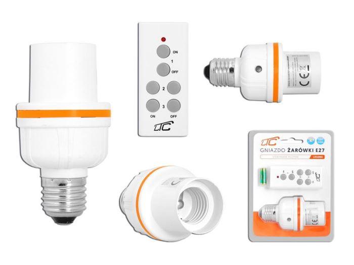 Dálkově ovládáná objímka žárovky  E27 + ovládač, LTC