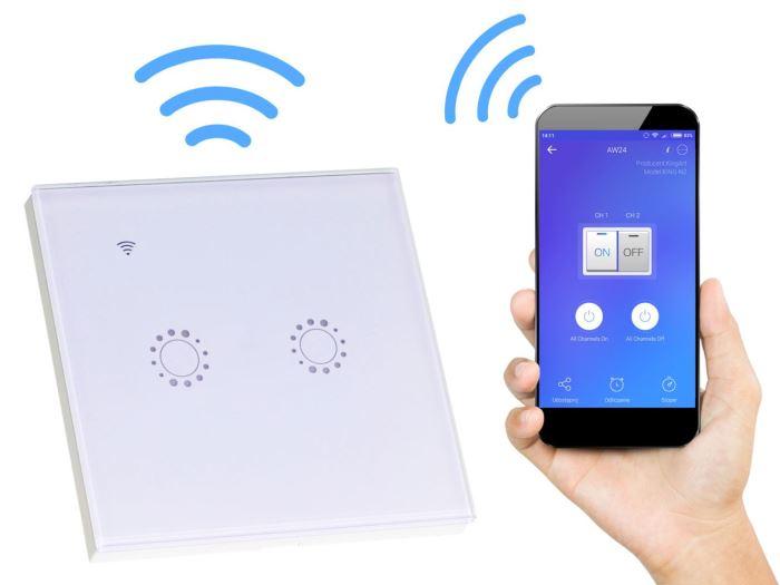 WiFi vypínač osvětlení - dvojtý