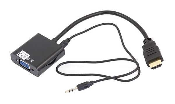 Konvertor HDMI / VGA + audio