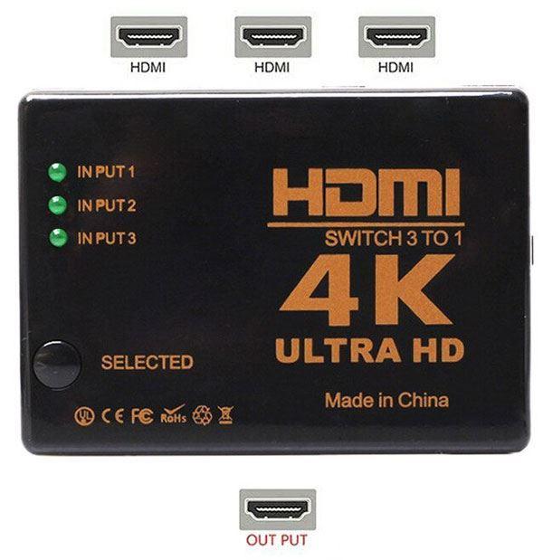 HDMI přepínač 3x HDMI UH-301 /HDMI switch/