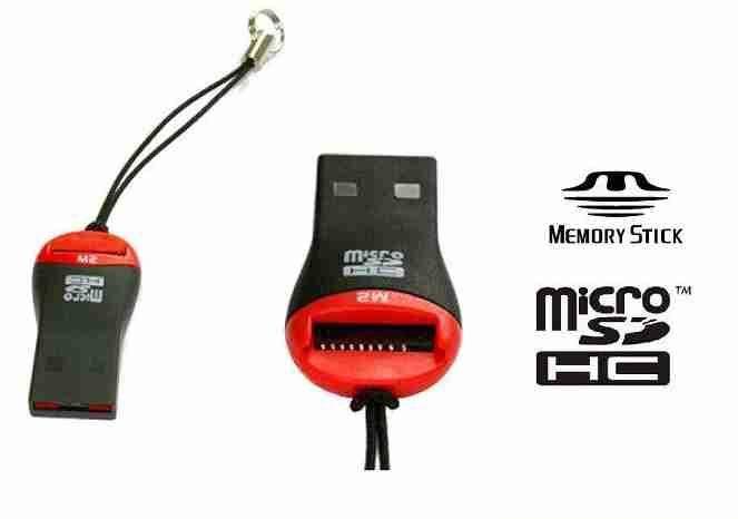Redukce čtečka MICRO SD, Memory Stick Micro /  USB