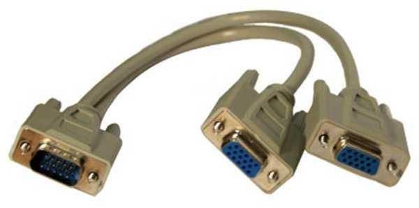 Redukce rozbočovač VGA Fd15hd na 2x VGA Md15hd