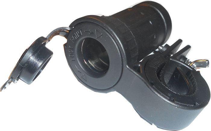 Zásuvka 12V pro motocykl vodotěsná