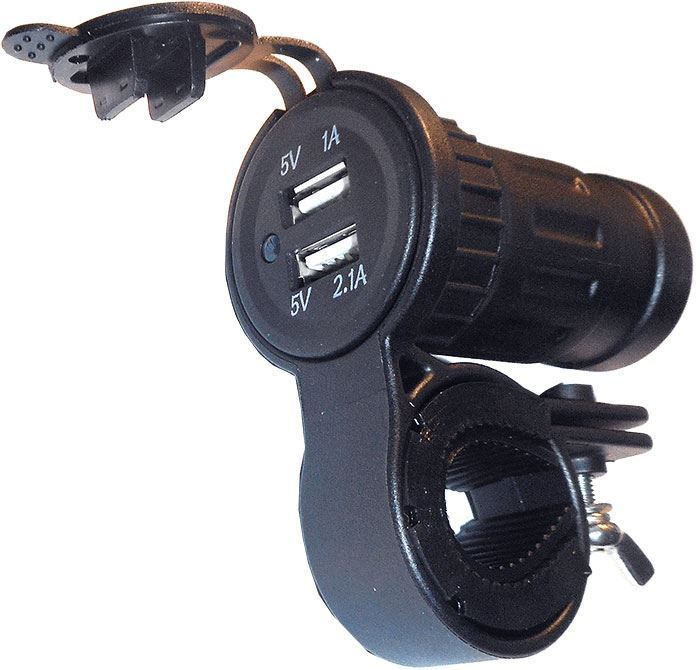 Zásuvka USB pro motocykl vodotěsná