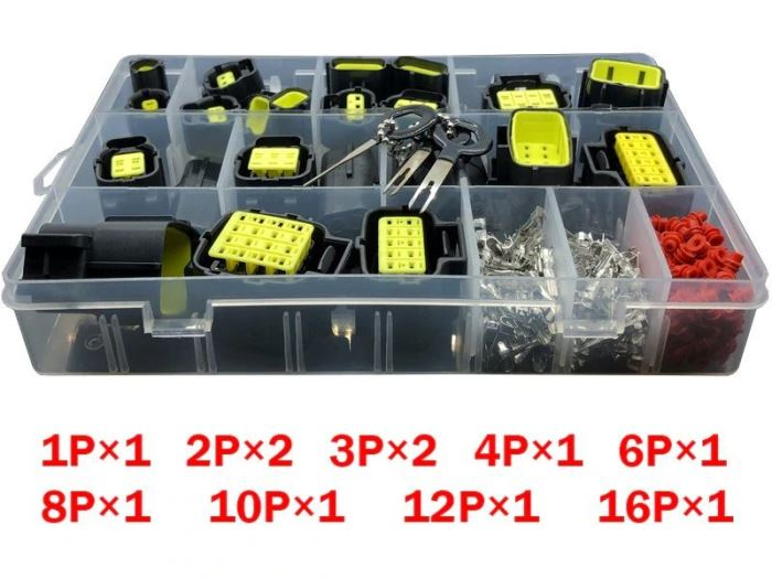 Sada vodotěsných konektorů do auta - 291ks