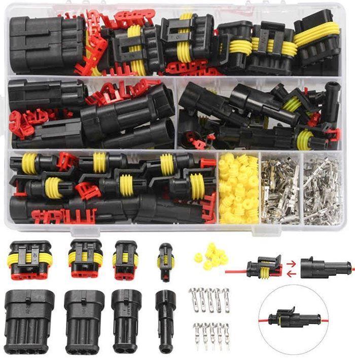 Sada vodotěsných konektorů do auta, celkem 325 komponentů