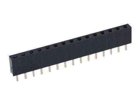 Dutinková lišta 1x15pin s roztečí 2,54mm pro PCB