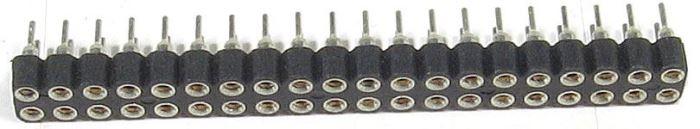 Dutinková lišta 2x20pin precizní s roztečí 2,54mm pro PCB