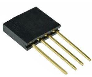 Dutinková lišta 4pin s roztečí 2,54mm pro PCB