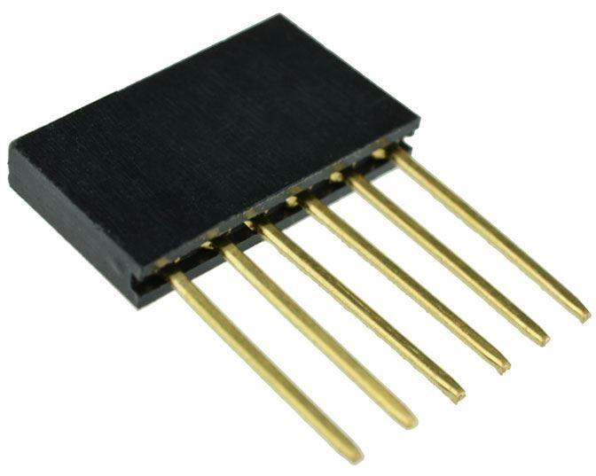 Dutinková lišta 6pin s roztečí 2,54mm pro PCB