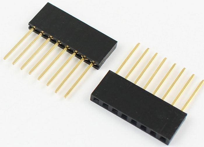 Dutinková lišta 8pin s roztečí 2,54mm pro PCB