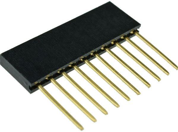 Dutinková lišta 10pin s roztečí 2,54mm pro PCB