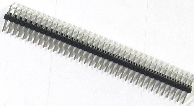Jumper lišta 2x36 pin s roztečí 2,54mm pro PCB úhlová