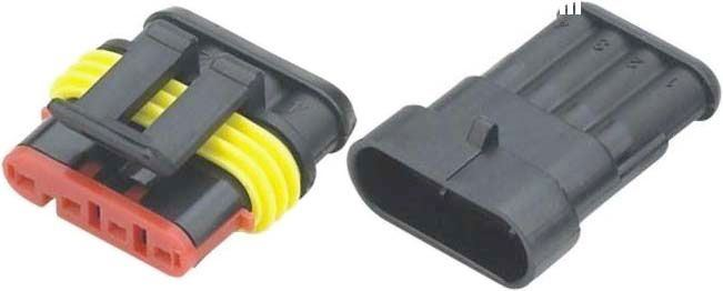 Konektor se zdířkou DJ7041-1.5-11+DJ7041-1.5-21 4P vodotěsný